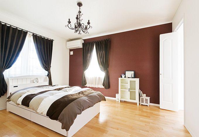 セルコホーム三島 西田工務店【デザイン住宅、輸入住宅、自然素材】「展示場と同じイメージに」と要望した寝室