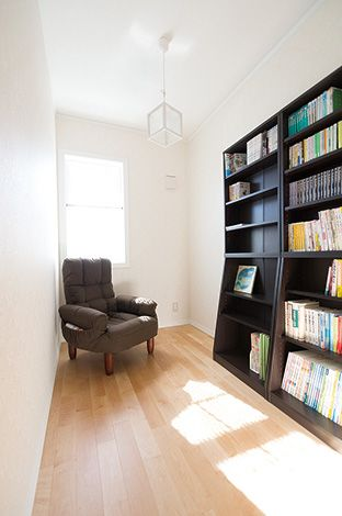 セルコホーム三島 西田工務店【デザイン住宅、輸入住宅、自然素材】書斎は家族みんなの本を集めたライブラリーにしたいそう
