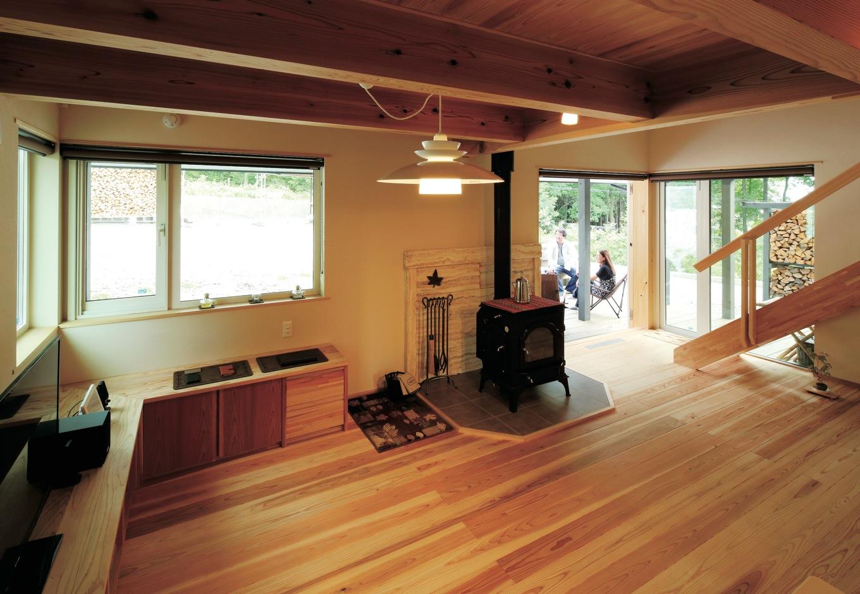 経年美を宿し、豊かさ深まる 自然室温で暮らす板張りの家
