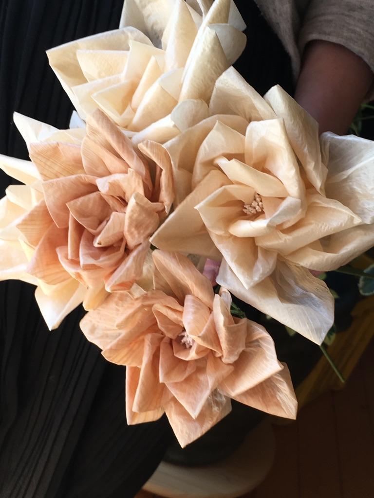 削り花(バラ)作り
