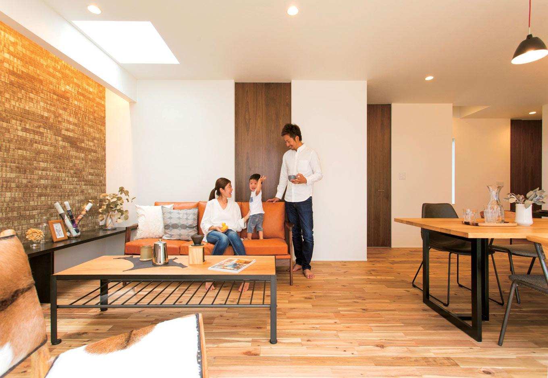 ARRCH アーチ【デザイン住宅、趣味、間取り】家族が集まるLDKは特に開放感を意識。コンパクトながらも寛げる空間に
