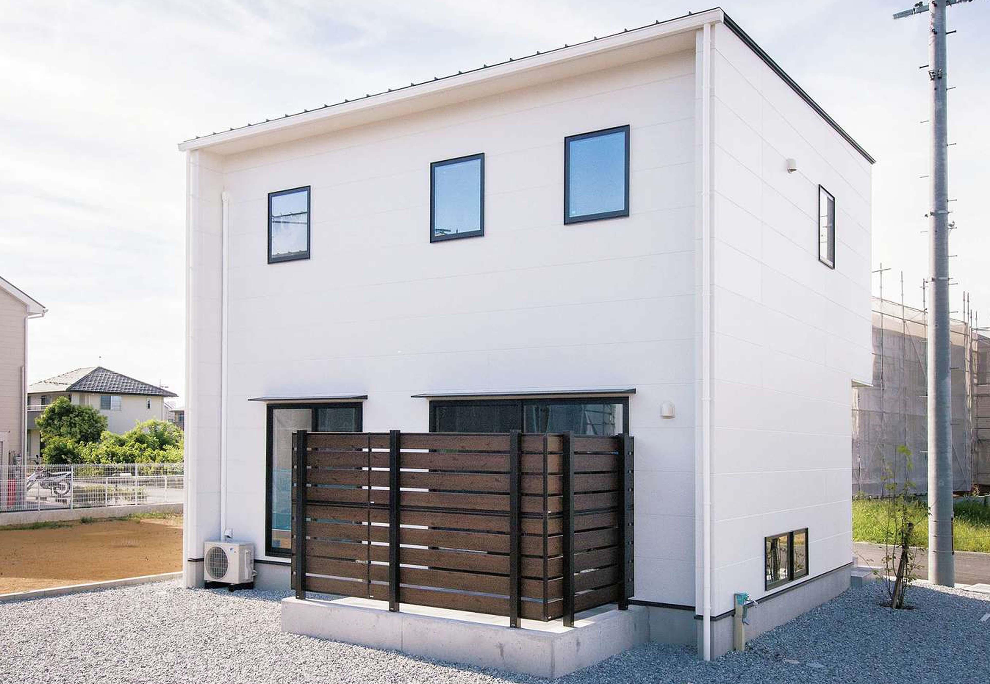 R+house 浜松中央(西遠建設)【デザイン住宅、子育て、建築家】キューブ型のシンプルな外観
