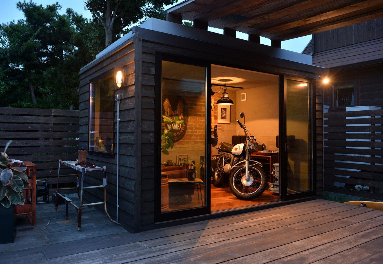 フォーバイシー【デザイン住宅、趣味、ガレージ】約6畳相当のコンテナは、自分の好きなようにカスタマイズできる