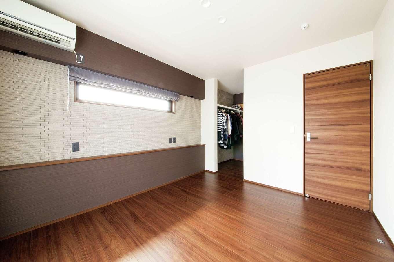 コットンハウス【子育て、省エネ、インテリア】寝室は他の部屋とはテイストを変えてホテルライクにデザイン