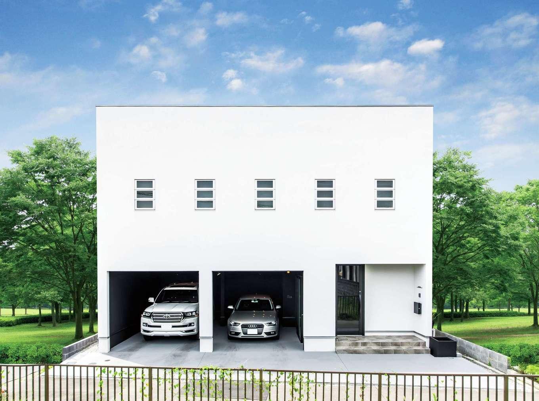 ハートホーム【デザイン住宅、子育て、ガレージ】従来の『ハートホーム』と違いクールで都会的な外観
