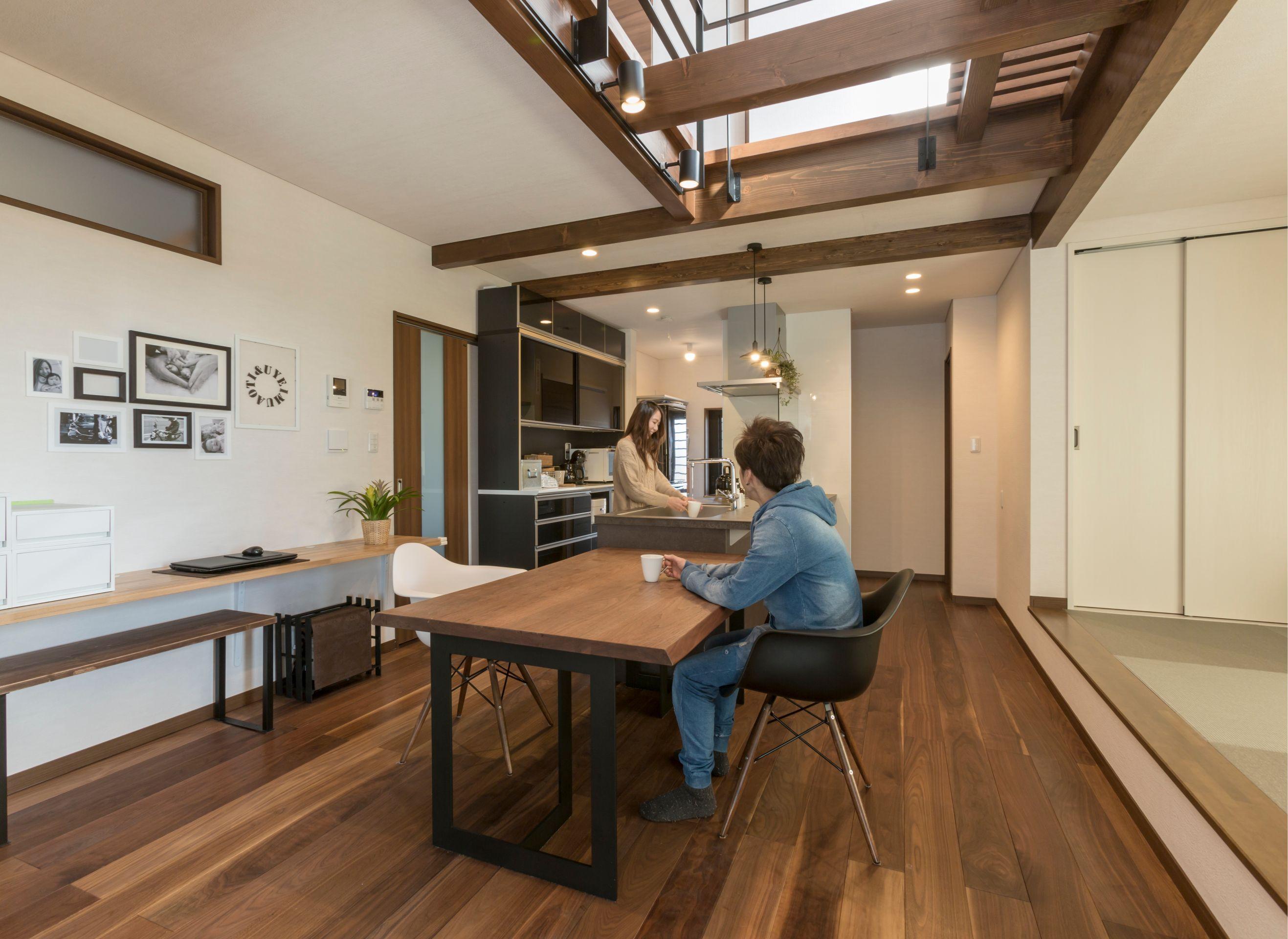 丸洋建設 ハウスオブハウス【趣味、間取り、ガレージ】和室の連なる大空間のLDK