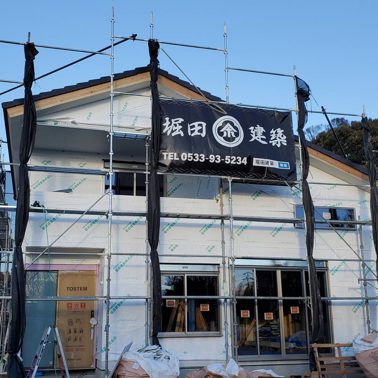 施工途中の現場を見学可能 「大工職人の技が光る家」