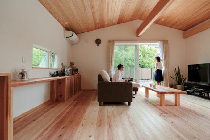 ここちよい暮らしを包み込む 自然素材の和モダン住宅