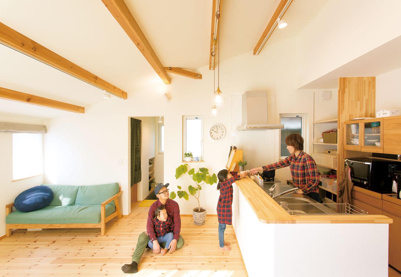 天然素材と家族のやさしさが日常を包み込む