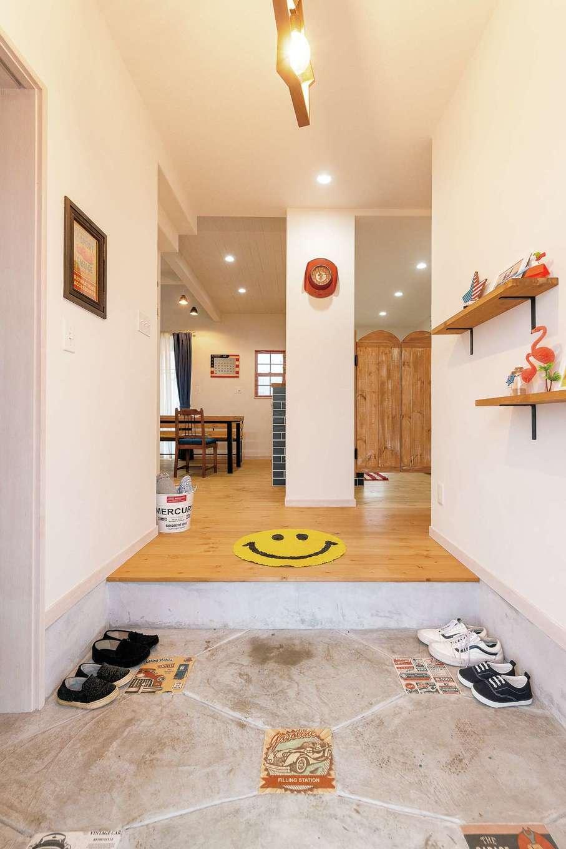 富士ホームズデザイン【1000万円台】玄関からそのままLDKがはじまる構成は、同社では多く採用される人気のスタイル