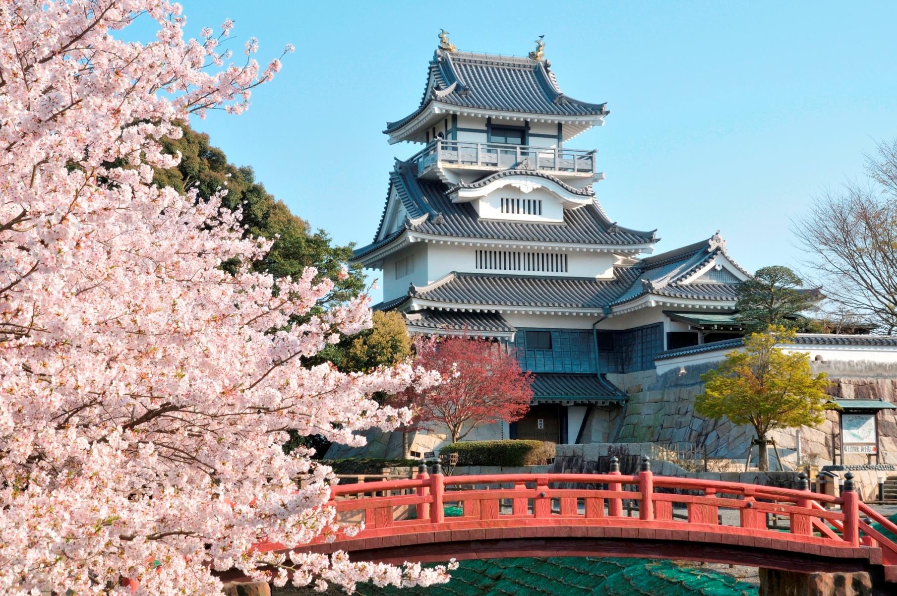 武田軍が砦を築いた場所に町のシンボルとして建てられた小山城
