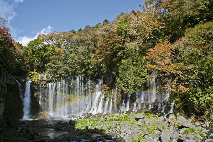 絹糸のように優美な白糸の滝(写真提供:富士宮市)