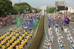 多くの参加者・観衆でにぎわう富士まつり(写真提供:富士市)