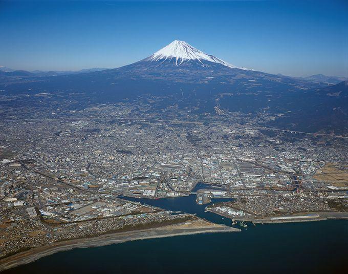 富士市の航空写真(写真提供:富士市)