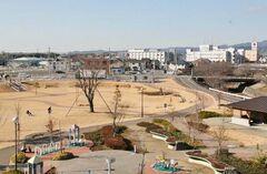 区画整理により生まれた公園と街並み(写真提供:焼津市)