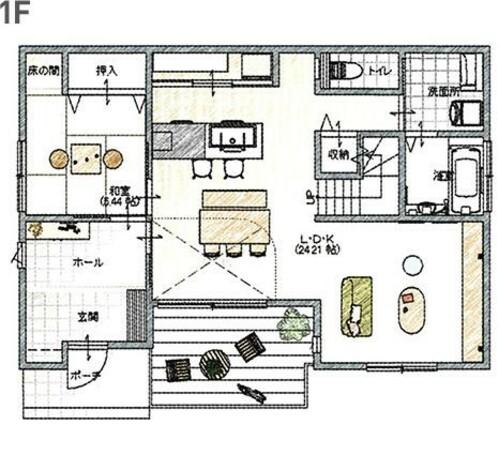 スムーズな家事動線・生活動線で、ゆとりの暮らしを提案