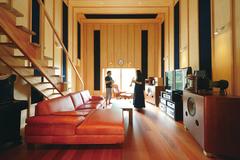 究極のオーディオリビングで、人生の余暇を楽しむ家