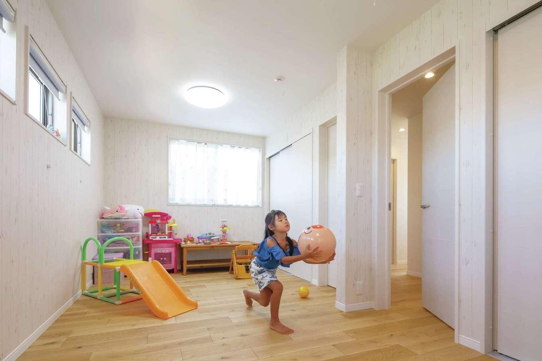 かなめ創建【デザイン住宅、狭小住宅、省エネ】子ども部屋は将来仕切って使うことも可能