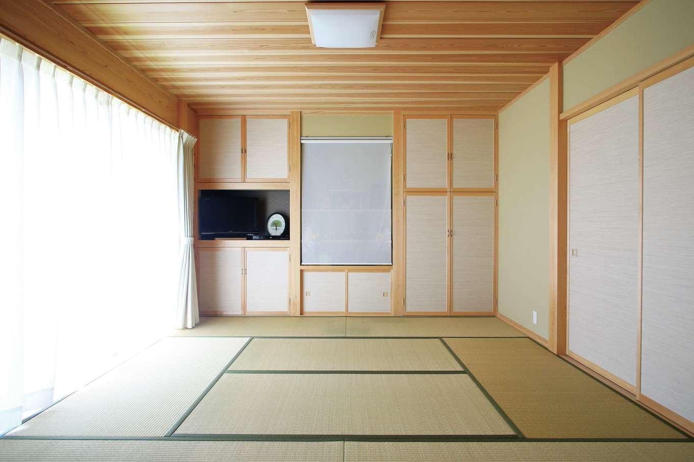 来客が多いため、和室は玄関のそばに設置。LDKを通らず直接客を招き入れられる