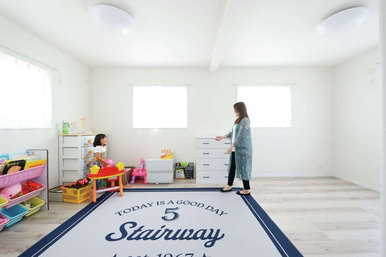 ほっと住まいる【デザイン住宅、自然素材、間取り】約12畳の子ども部屋は、成長に応じていつでも間仕切り可能