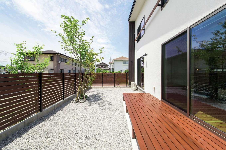 住たくeco工房【1000万円台、間取り、ペット】ドッグランとしても活用している広い庭。目線を気にすることなく、BBQやおうちカフェも楽しめる