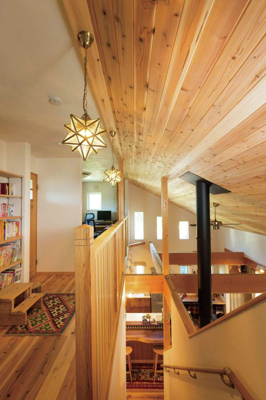 アイジースタイルハウス【デザイン住宅、自然素材、省エネ】他社では断られた「天井を木にしたい」という要望を『アイジー』が実現