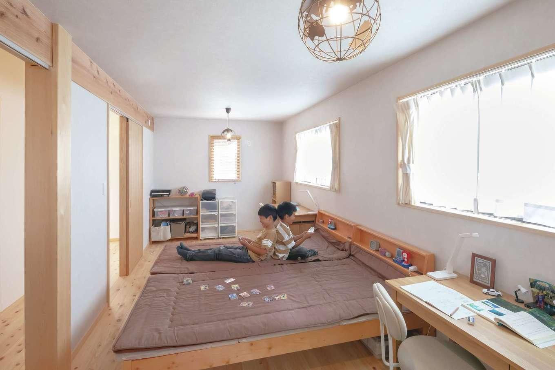 フジモクの家(富士木材)【子育て、自然素材、間取り】スケルトン&インフィル構造により、間仕切り壁の撤去や増設も簡単