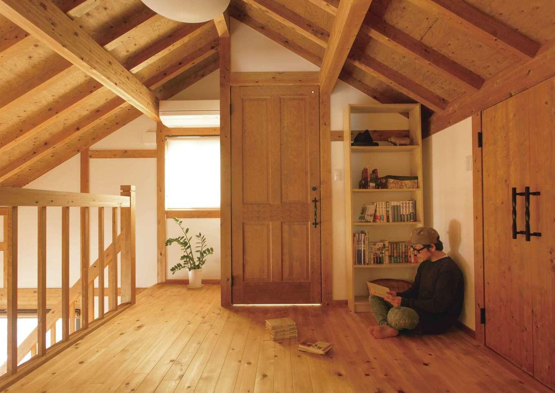 サイエンスホーム【デザイン住宅、自然素材、平屋】なぜか落ち着くロフトの趣味スペース