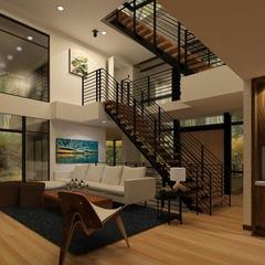 リビング階段のメリット・デメリットのイメージ