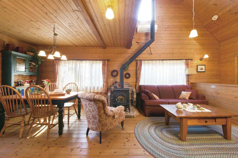BESS浜松【浜松市西区志都呂1-22-19・モデルハウス】ログ材の木の高い断熱効果により、冬あったか、夏はさらりとした空気を保つ