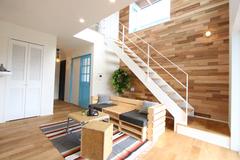 ゆるっとオシャレな西海岸風のデザイン ハンモックの似合う家