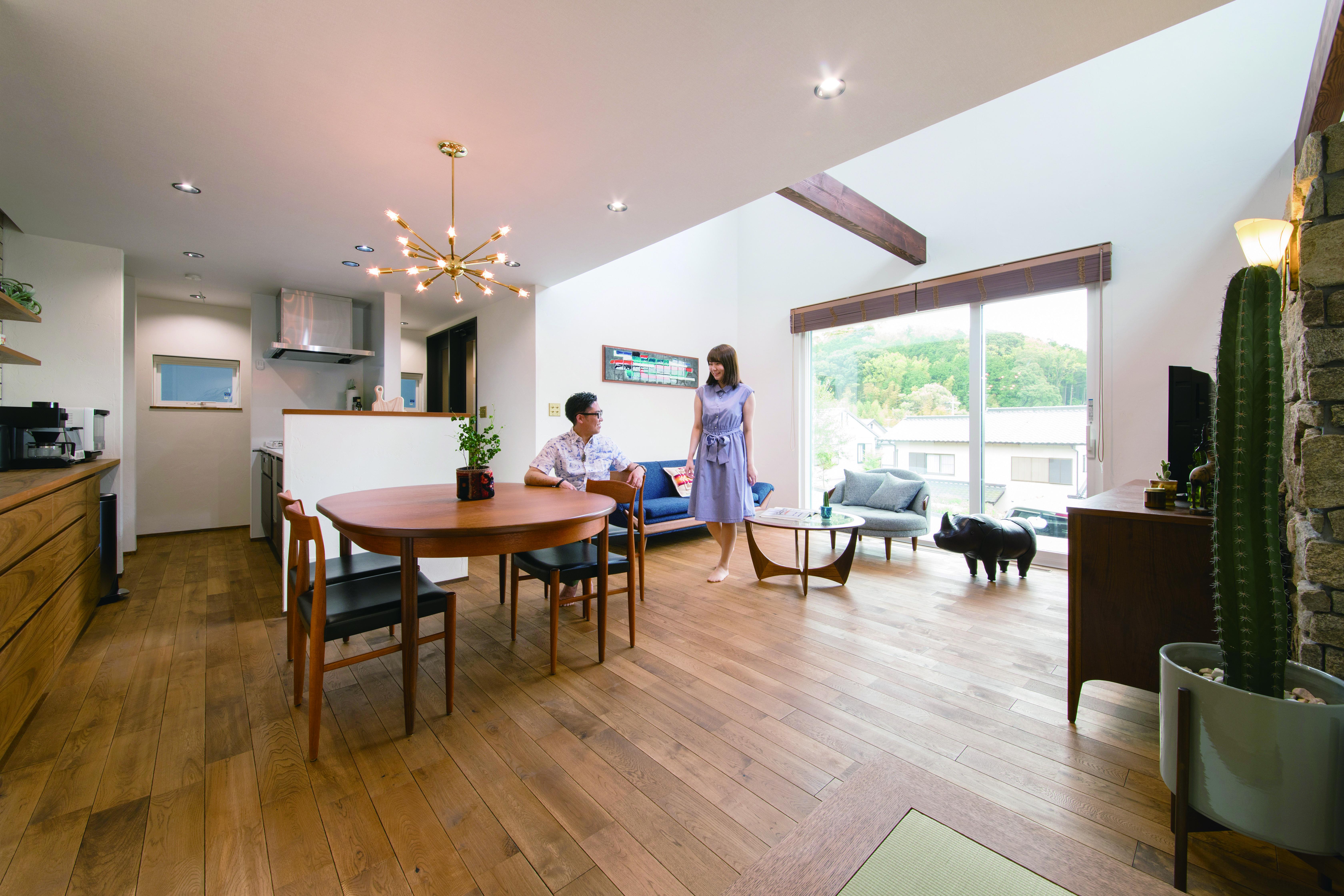小幡建設【岡崎市岩津町・モデルハウス】室内は「1 ALLS System」システムにより、エアコン1台で夏も冬も24時間適温をキープ。室内の温度差が無く、すこやかで快適な暮らしを実現できる