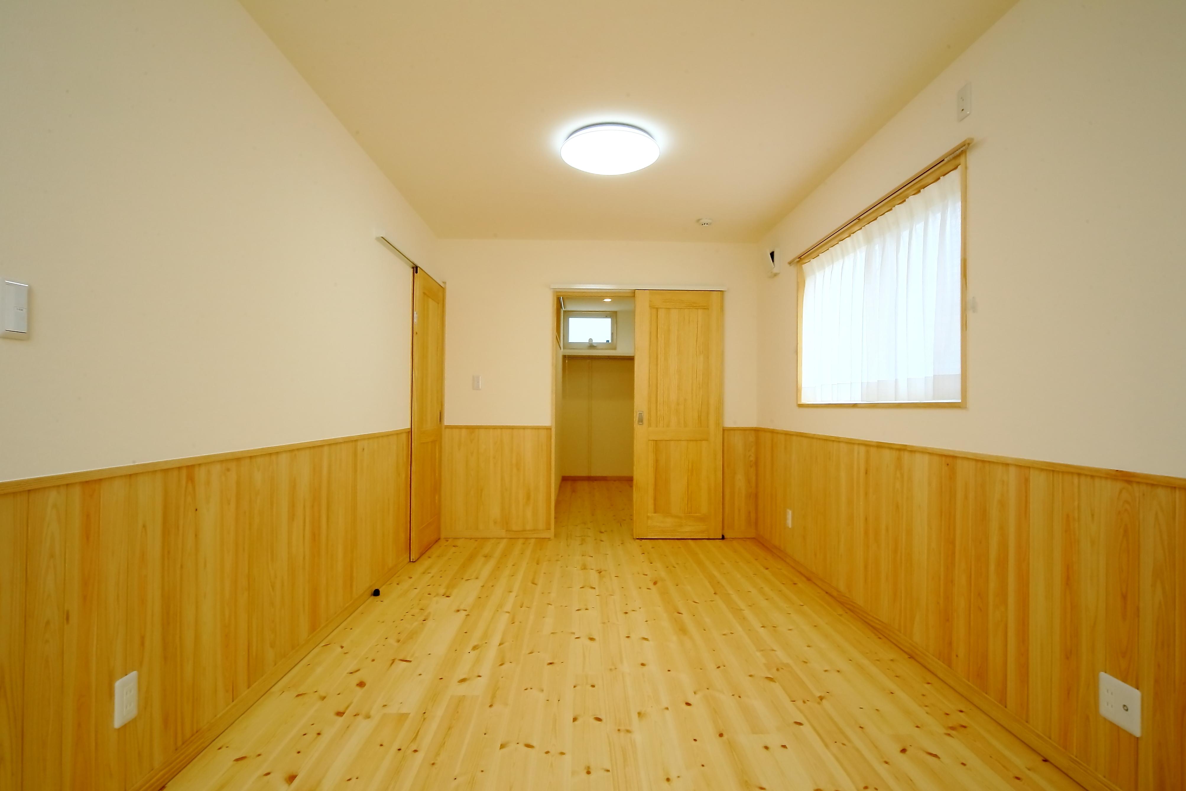 エコフィールド【収納力、省エネ、間取り】2階の子ども部屋は、将来的に間仕切りも可能