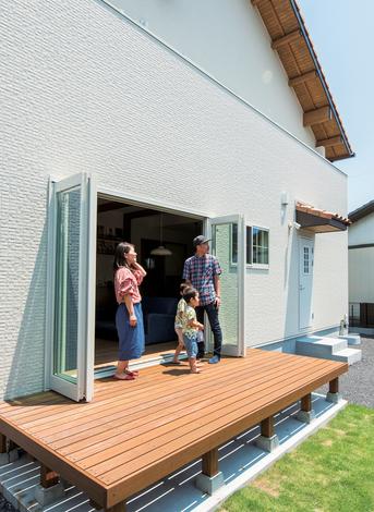 小玉建設|BBQやサッカー、家庭菜園など、さまざまな用途に使える庭が家族の絆をより深める