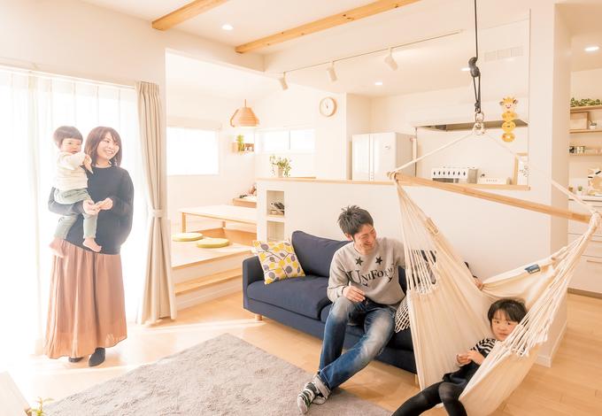 シンプルな家事動線が生みだす 家族の笑顔と愛しい時間