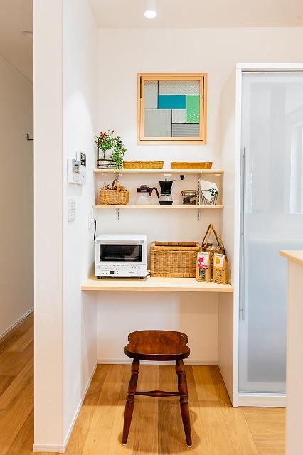 <ポイント①>キッチン近くにお気に入りのスペース。