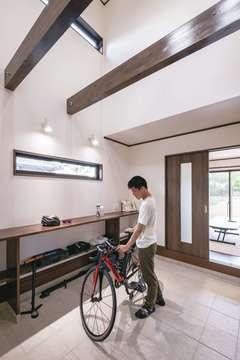 自転車と暮らす。 サイクルスペースがある家
