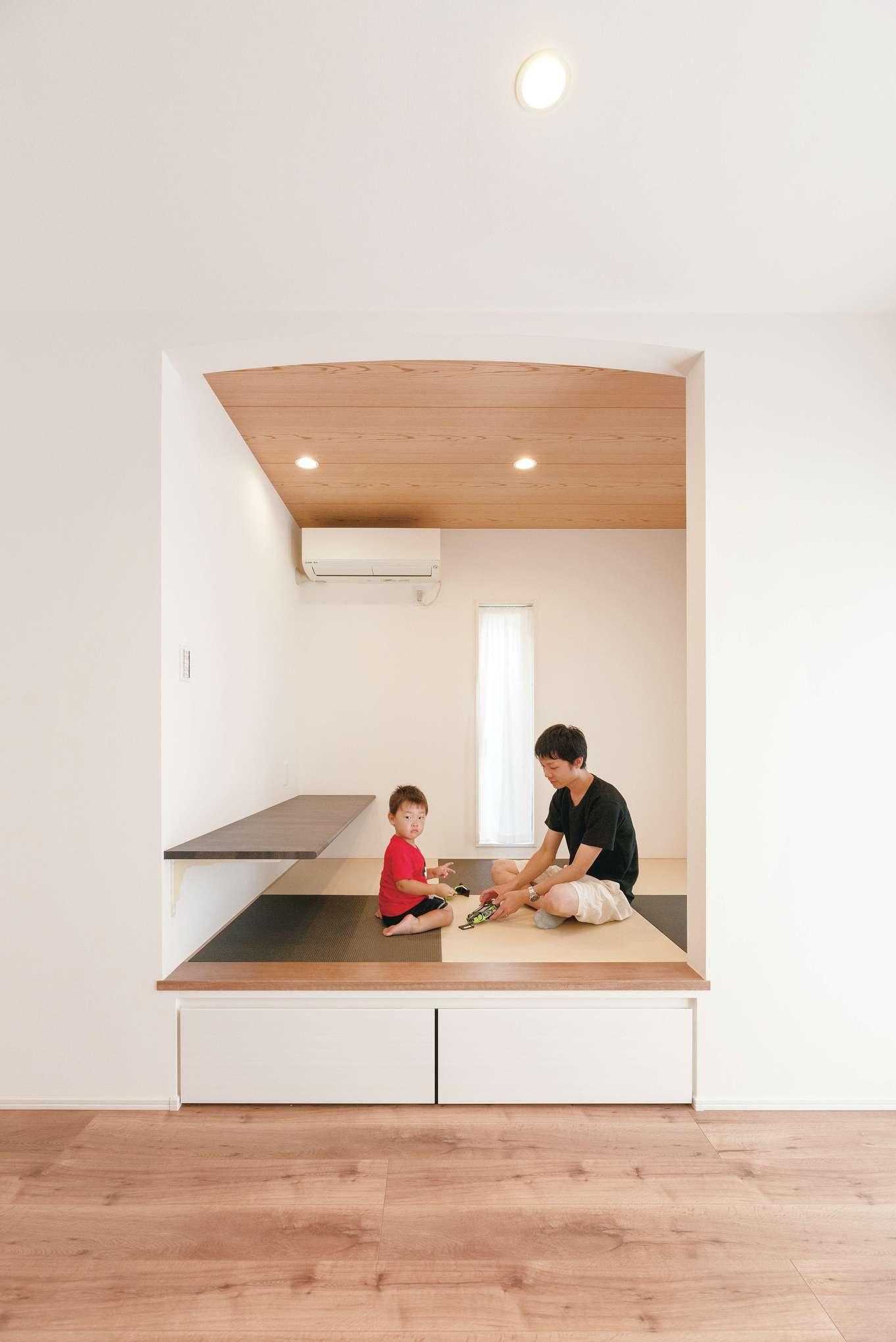 irohaco (アヴァンス)【1000万円台、デザイン住宅、子育て】小上がり下は前面をフラップにした引き出し収納に