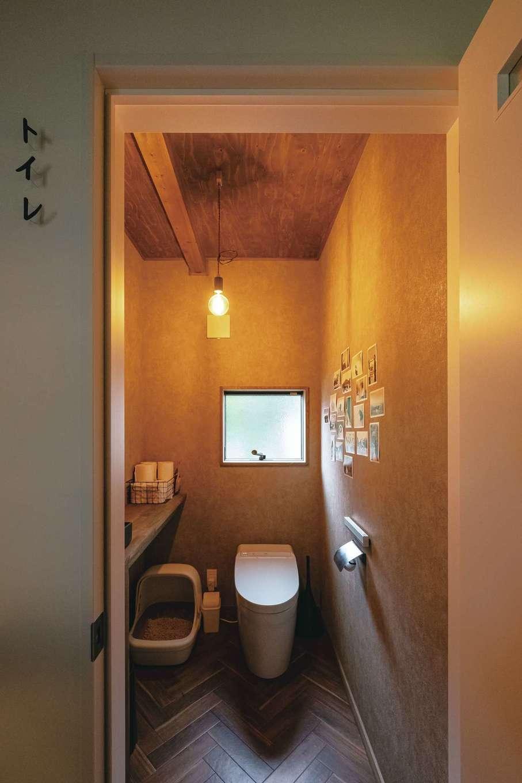 トイレもスペースを確保。水回りの床は濡れても大丈夫な素材に