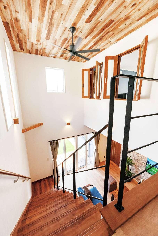 irohaco (アヴァンス)【1000万円台、デザイン住宅、間取り】これほどの大空間でも断熱・気密性が高いため、上下階の温度差がほとんどない