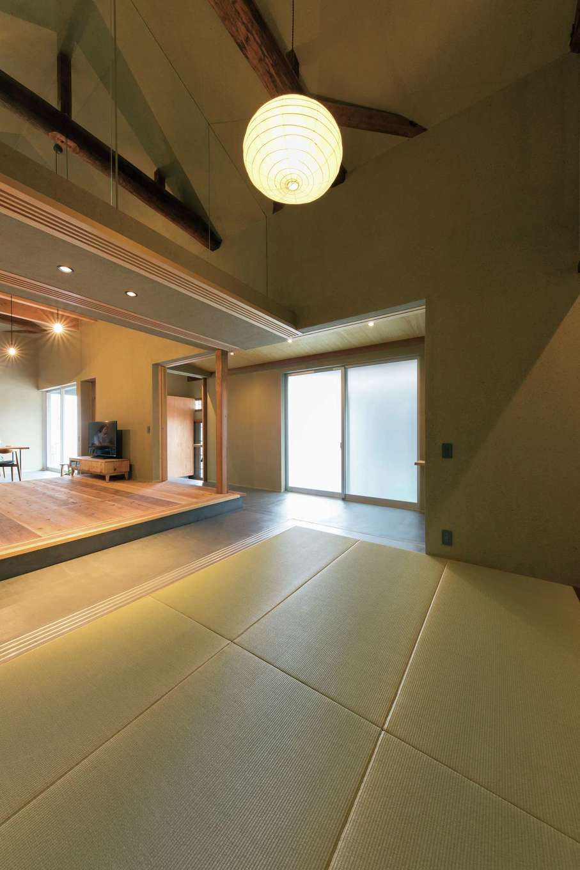 建杜 KENT(大栄工業)|床の間のある和室もひと続きの空間に取り込んだ。個室として仕切ることもできる