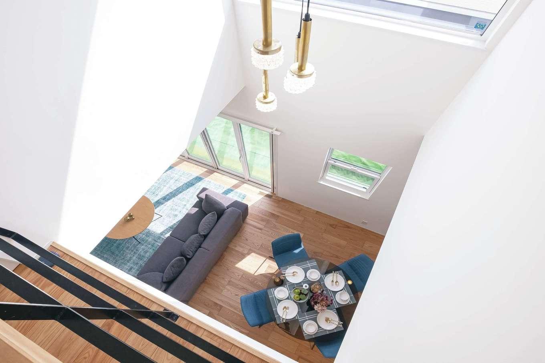 OWN RESORT HOME(オウンリゾートホーム)【三島市若松町4626・モデルハウス】全館空調「Z空調」の採用で、家の中で温度差が生じないため、憧れの開放的な吹き抜けも実現できる