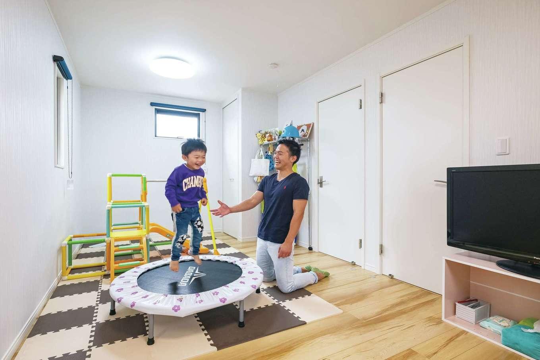 IDK 住まいの発見館【収納力、省エネ、間取り】2つに分けられる子ども部屋。床はナチュラルなものを選択