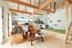 便利と遊び心を詰め込んだ 愛猫と暮らす平屋の家