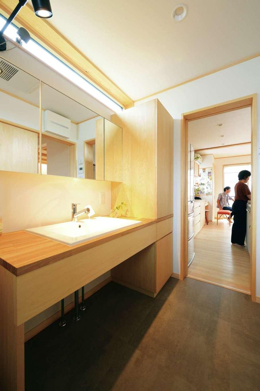仲田工務店【子育て、趣味、省エネ】洗面所の床材は丈夫で水に強い素材