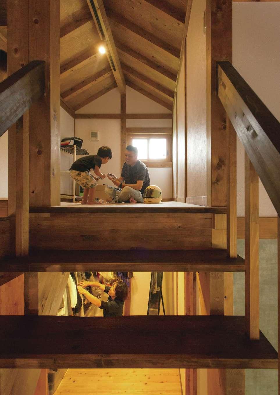 サイエンスホーム【デザイン住宅、自然素材、省エネ】ロフトは男同士の趣味の部屋