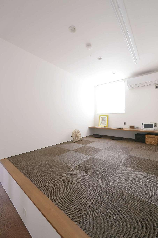 MABUCHI【デザイン住宅、狭小住宅、建築家】小上がりの畳コーナーは家族共有のフリースペース