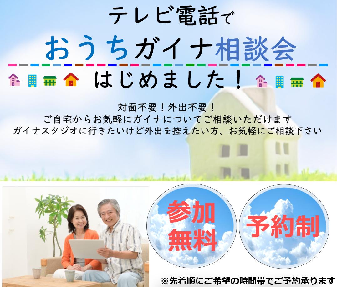 テレビ電話で「おうちガイナ相談会」参加無料!