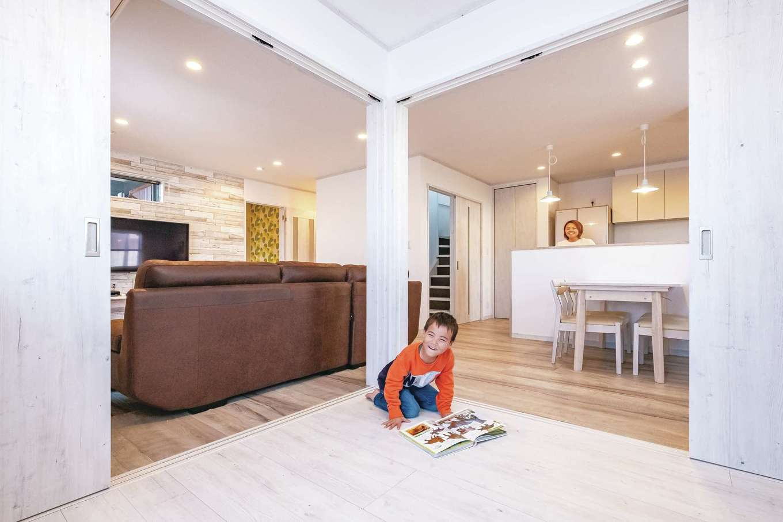 IDK 住まいの発見館【1000万円台、子育て、省エネ】多目的ルームは、小学校に上がったら机を置いて宿題スペースに。間仕切りもできるので、来客の寝室にも