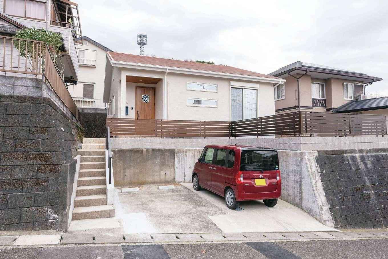 R+house沼津(HOUSE PLAN)【狭小住宅、平屋、インテリア】道路から一段高い場所に建てられた平屋。人目を気にせずに過ごせ、日当たりも良好